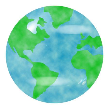 de planeet aarde op een witte achtergrond  Stock Illustratie