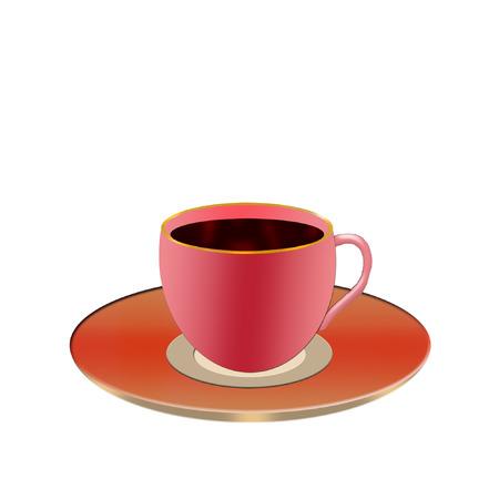 een kleurrijke kopje koffie vol
