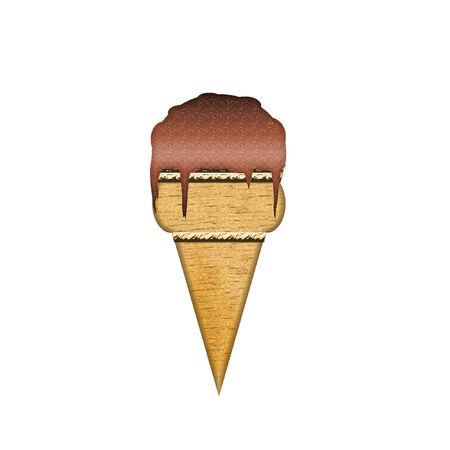 a yummy looking ice cream cone  向量圖像