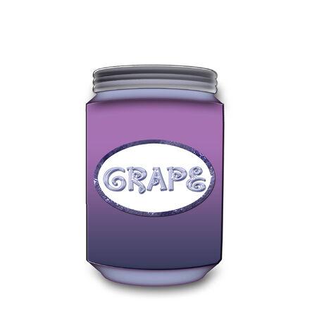 a large glass jar of grape jelly 版權商用圖片 - 6154400