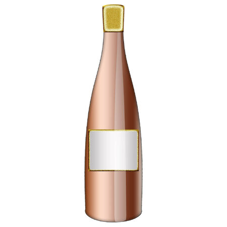 a wine bottle done in pretty colors  向量圖像