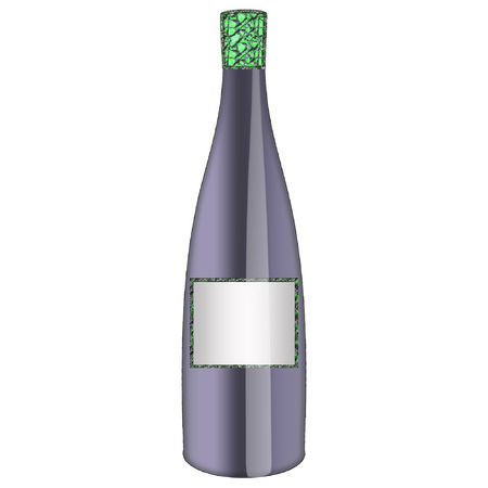 a wine bottle done in pretty colors