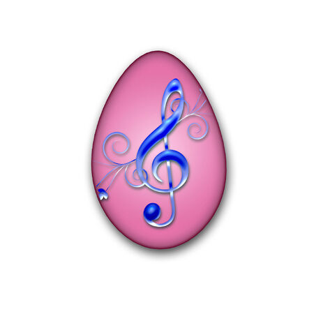 a pretty easter egg decorated and ready for an egg hunt