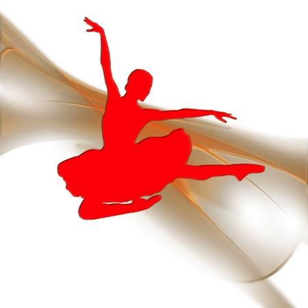a ballerina on a pretty background Reklamní fotografie - 7212198