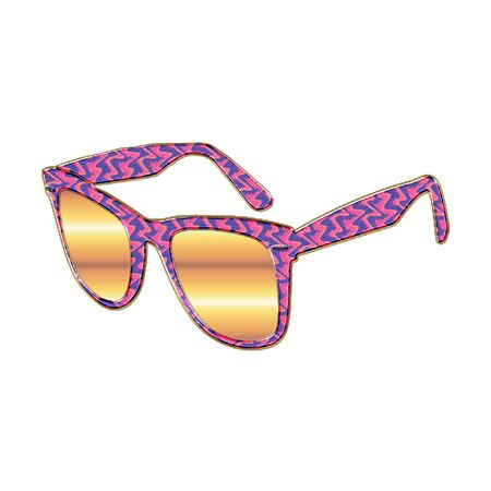 a colorful pair of sunglasses ready for the summer sun