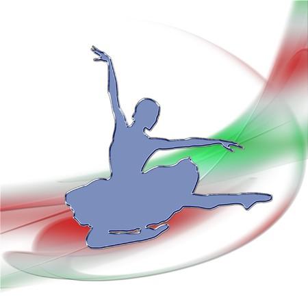 a ballerina on a pretty background Reklamní fotografie - 8276654