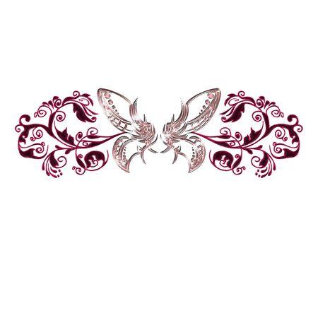 een vlinder gedaan in heldere en mooie kleuren  Stock Illustratie
