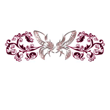 a butterfly done in bright and pretty colors
