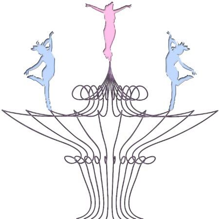 silhouettes ballerinas on a pretty background Reklamní fotografie - 8276248