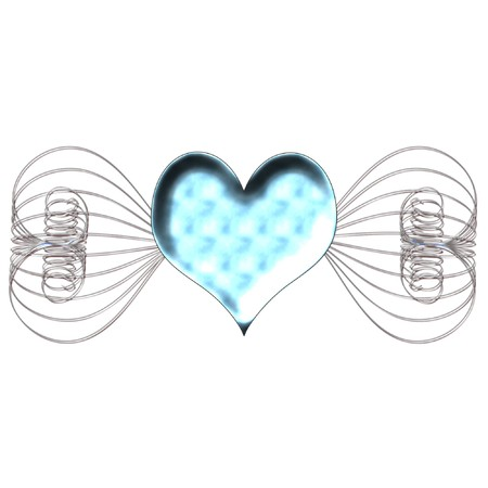 heart very: a very pretty and bright heart design Illustration