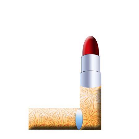 a pretty colorful tube of lipstick