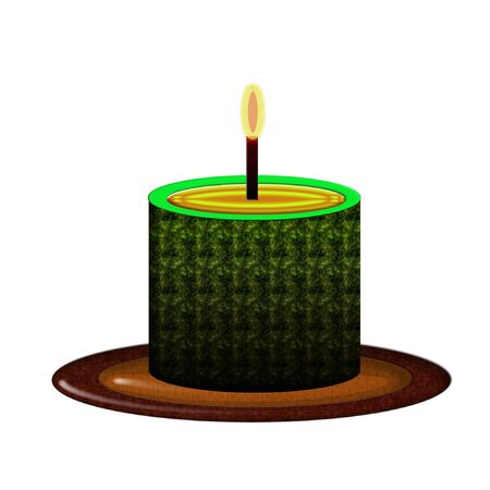a bright colorful wax candle