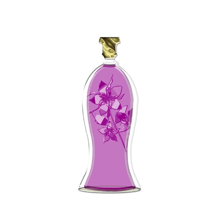 a pretty colorful bottle of perfume