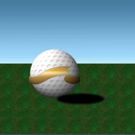 golf ball with a cool symbol on it Imagens - 8430978