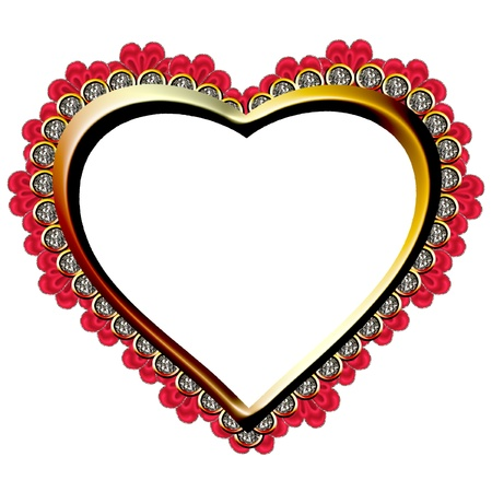 a very pretty and bright heart design