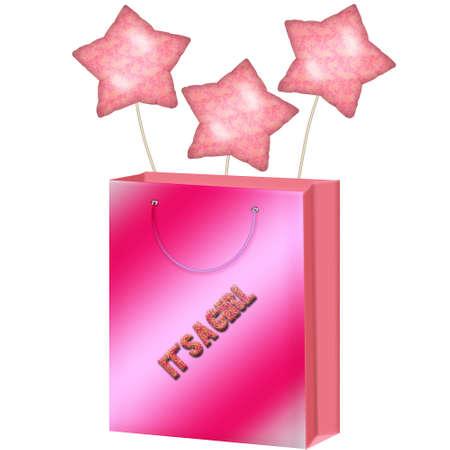 bolsa de regalo: una bolsa de regalo bonito en colores bonitas