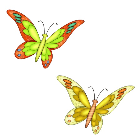 butterly done in pretty colors