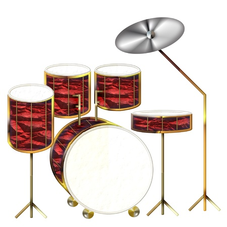 a set of drums done in bright colors Stock Vector - 8700293