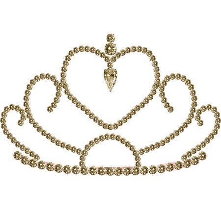 A pretty tiara decorated with diamonds Vector