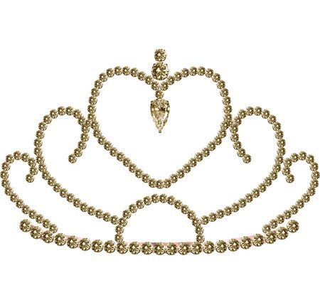 A pretty tiara decorated with diamonds Çizim