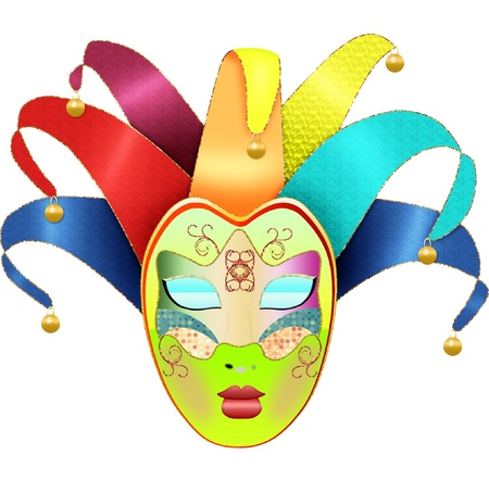 carnival costume: a carnival mask done in pretty colors Illustration