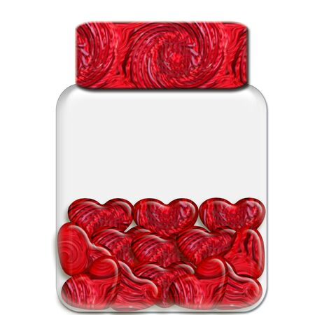 a glass jar filled with sweet candy