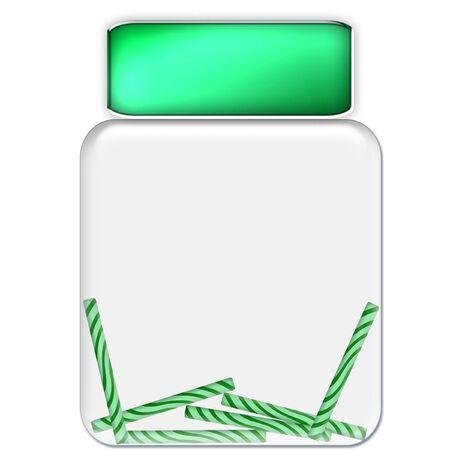 een glazen pot gevuld met zoete suikergoed Vector Illustratie