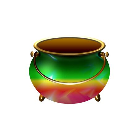 a brightly colored cauldron