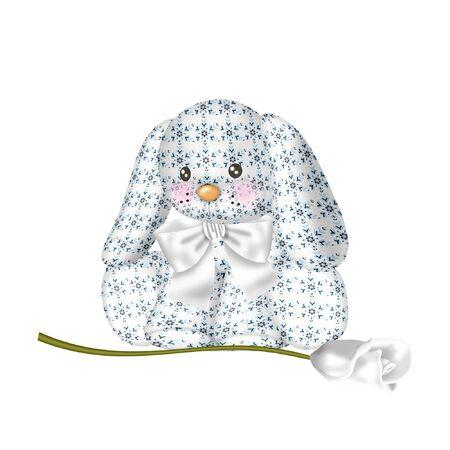 bunny rabbit: un lindo y han conejito en colores bonitas