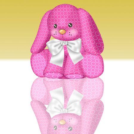 a cute and cuddly bunny rabbit in pretty colors Banco de Imagens - 8928800