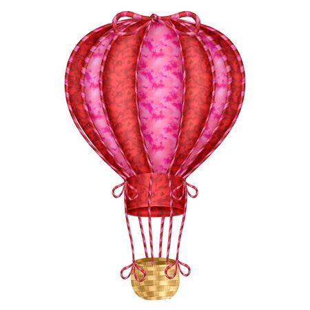 A cute and colorful hot air balloon