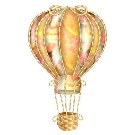 キュートでカラフルな熱気球  イラスト・ベクター素材