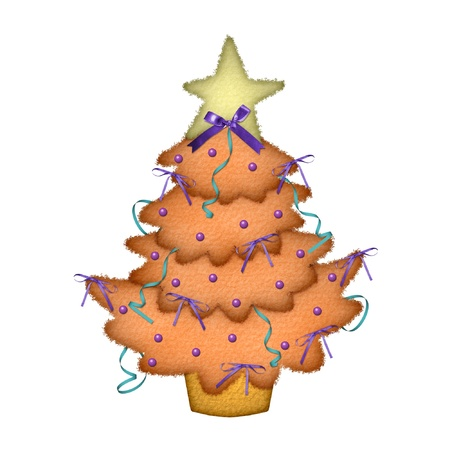 A christmas tree with pretty decorations