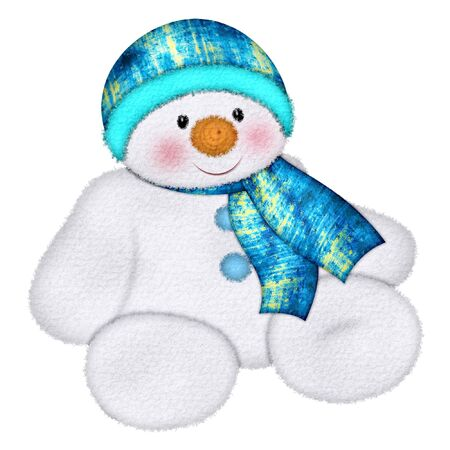 winter tree:  A cute little snowman for the winter season