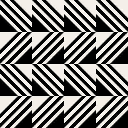 Fond vectorielle continue. Motif géométrique reproductible de lignes. Mosaïque de carrés bordés Vecteurs