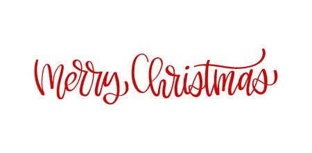 Handwritten Merry Christmas calligraphy. Hand lettering for cards, posters and your design