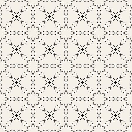 Arabic seamless ornament. Abstract background. Curved elegant lines and scrolls forming abstract floral ornament. Seamless pattern for background, wallpaper, textile printing, packaging, wrapper, etc.