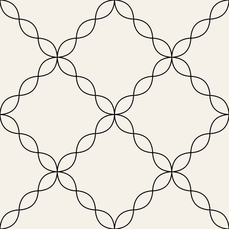 Arabic seamless ornament. Abstract background. Curved elegant lines and scrolls forming abstract floral ornament. Seamless pattern for background, wallpaper, textile printing, packaging, wrapper, etc. Illustration