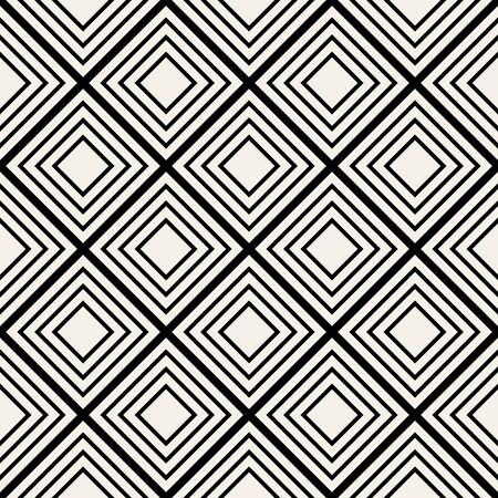 Abstract striped textured geometric seamless pattern. Vector simple monochrome modern ornament. Ilustracje wektorowe
