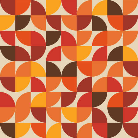 Abstract seamless geometric pattern - bauhaus style print design - simple repeating lines and shapes mosaic background Illustration
