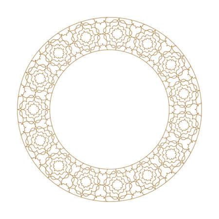 Vector frame in classic arabic style. Ornamental element