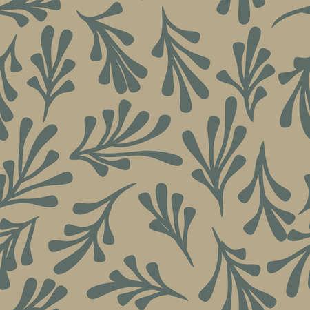 Seamless light pastel colors leaf pattern. Vector illustration Illustration