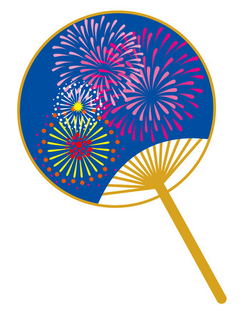 Fan fireworks Stock Photo