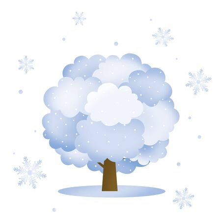 winter tree: Winter tree Stock Photo