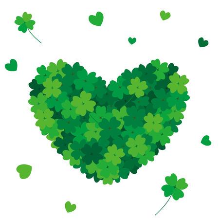four leafs clover: Heart clover