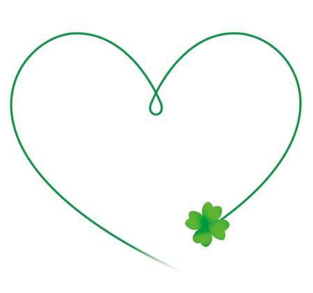 four leafs clover: Clover heart