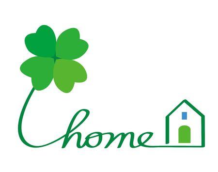 trefoil: Eco home Stock Photo