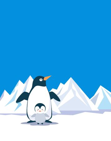 background antarctica: Penguin think