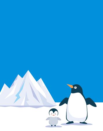 ペンギン氷山 写真素材