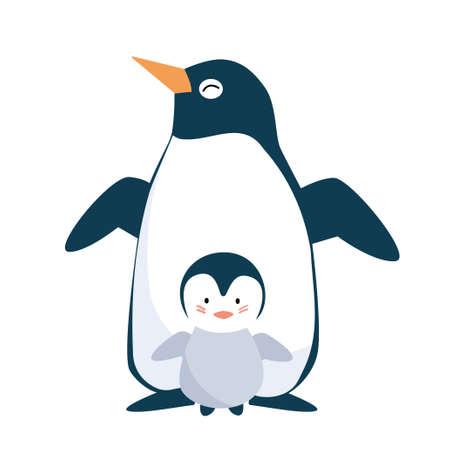 ペンギン親子 写真素材